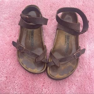 Oiled Leather Birkenstock Sandals Size 37